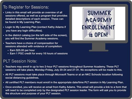 Summer Academy Enrollment Graphic Image