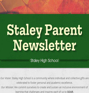 Staley Parent Newsletter image