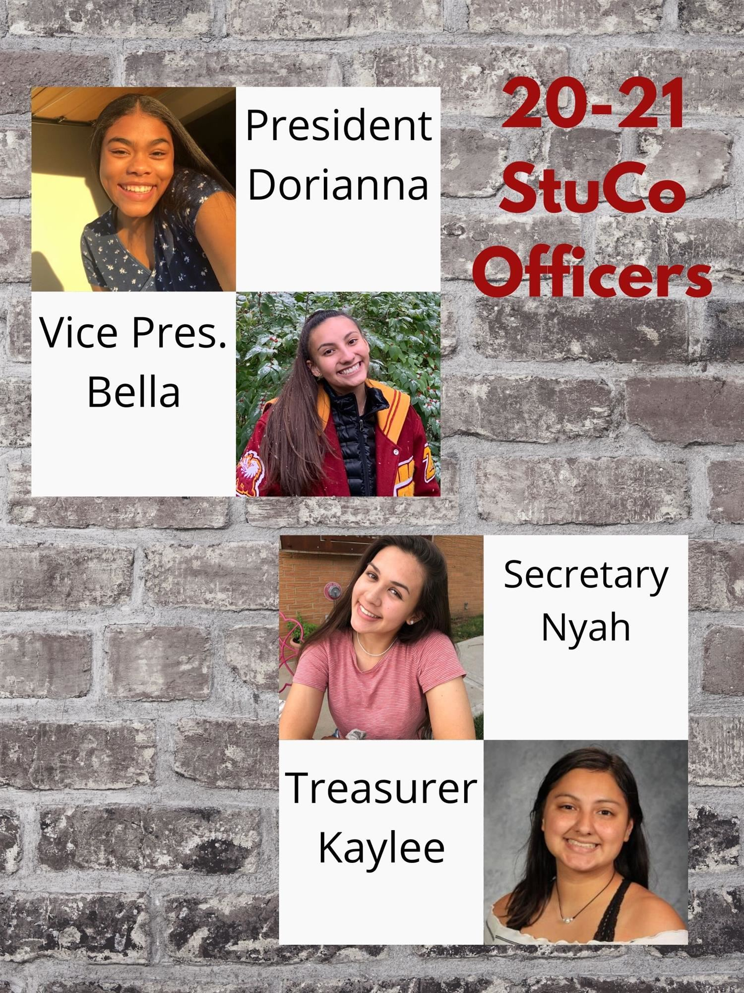 Class of 2021 Student Council Officers Announced