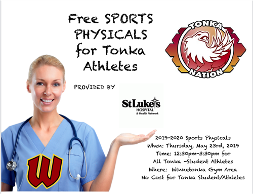 Free Sports Physicals Flier