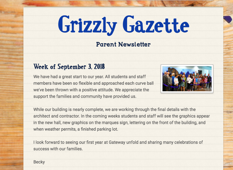 Grizzly Gazette intro