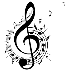 Clip art image of a musical note.