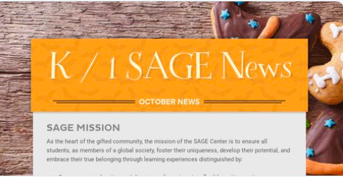 4th grade SAGE Newsletter