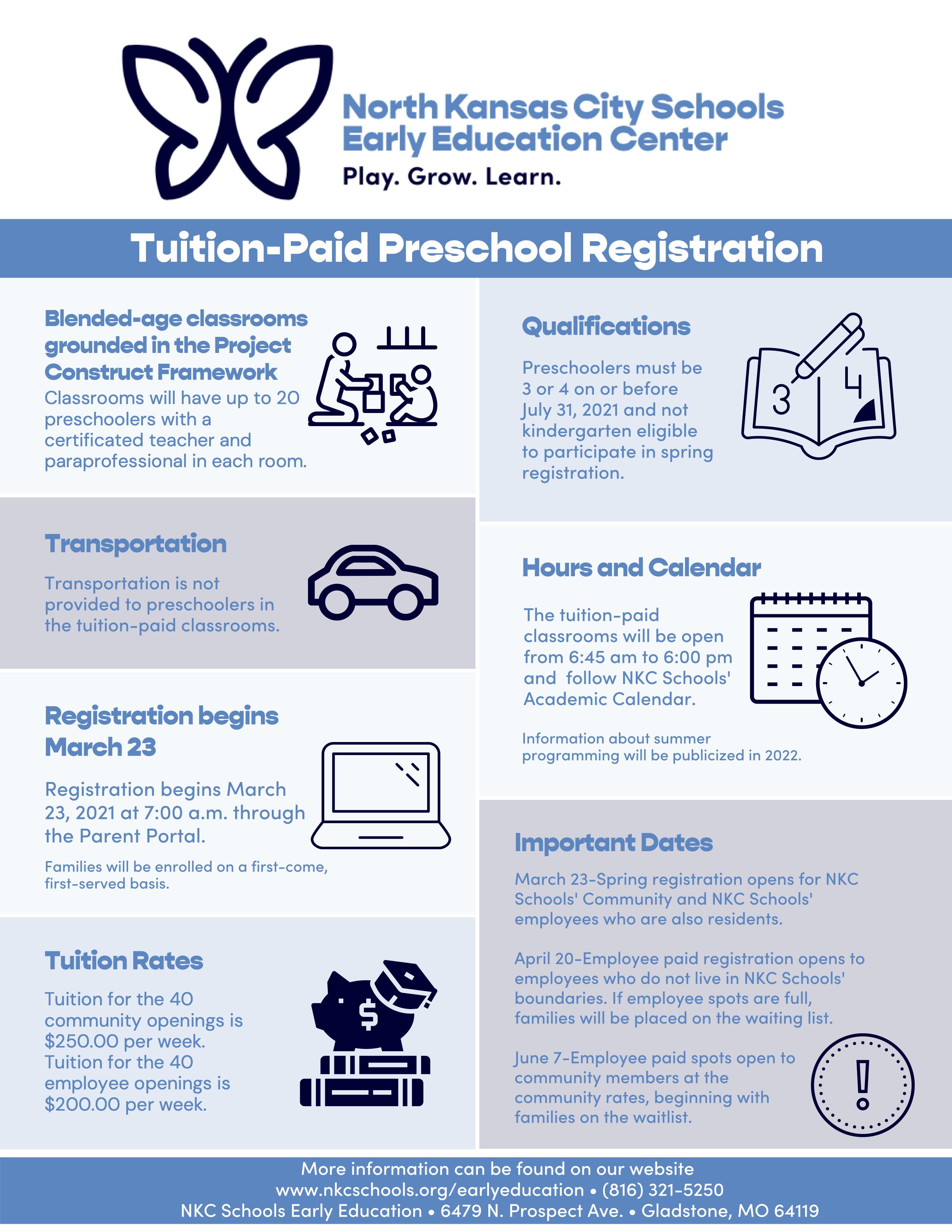 Tuition Paid Preschool Registration